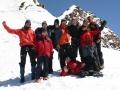 Zpět sestupu z vrcholového hřebene v roce 2007